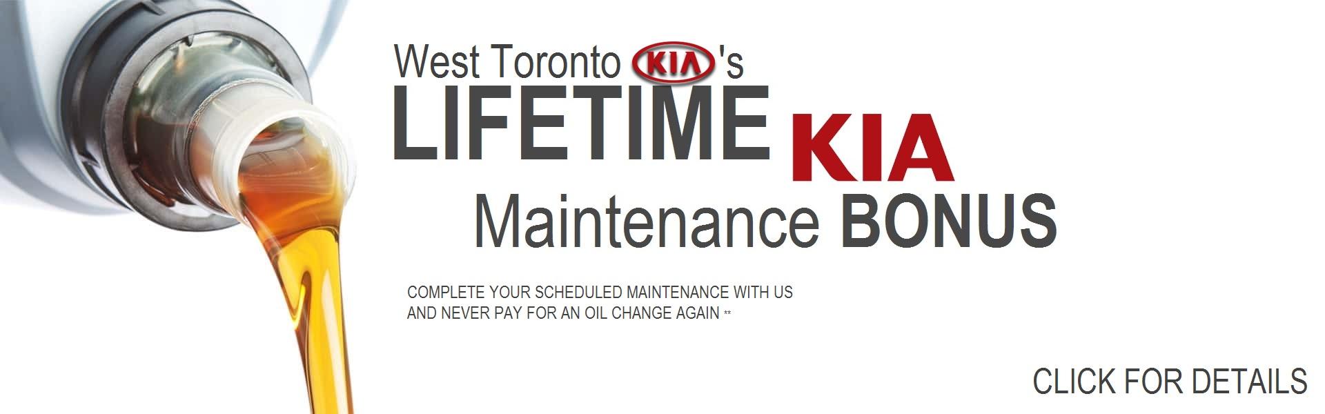 Lifetime Kia Maintenance